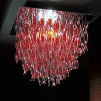 Люстра потолочная Aura red