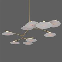 Люстра подвесная Branching Disc 9 Gold