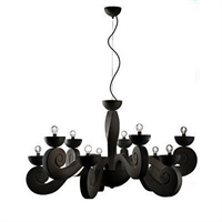 Люстра Botero S5+5 black в стиле Masiero Manuel Vivian