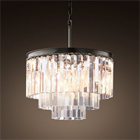 Люстра Odeon Clear Glass Hanging Chandelier 3 Rings