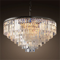 Люстра Odeon Clear Glass Hanging Chandelier 7 Rings