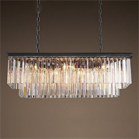 Люстра Odeon Clear Glass Hanging Chandelier D10