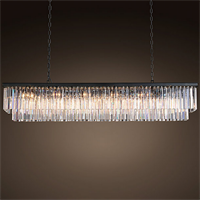 Люстра Odeon Clear Glass Hanging Chandelier D12
