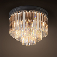 Люстра Odeon Clear Glass Ceiling Chandelier 3 Rings