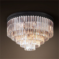 Люстра Odeon Clear Glass Ceiling Chandelier 5 Rings