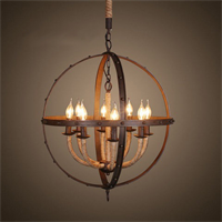Люстра Loft Iron Ring Chandelier Rope