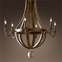 Люстра Loft Wine Barrel Hanging Chandelier 6