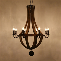 Люстра Loft Wine Barrel Hanging Chandelier 8