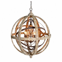 Люста Loft Wood Orb Chandelier Adds Beauty