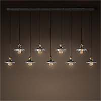 Люстра Loft Cone Pendant Reflector Line 9