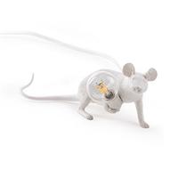 Настольная Лампа Мышь Mouse Lamp #3  Н8 см Белая