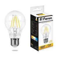 Лампа светодиодная Feron LB-57 Шар E27 7W 2700K