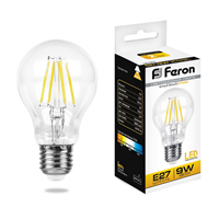 Лампа светодиодная Feron LB-63 Шар E27 9W 2700K