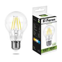 Лампа светодиодная Feron LB-63 Шар E27 9W 4000K