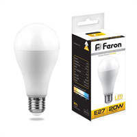 Лампа светодиодная Feron LB-98 Шар E27 20W 2700K