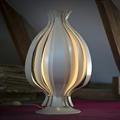Лампа настольная белая в стиле минимализм Orion by Verner Panton
