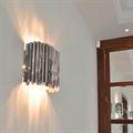 Светильник настенный из металлических полосок Facet  Tom Kirk хром золото