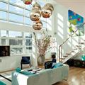 светильник дизайнерский блестящий бронзовый шар 20 см