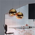 светильник подвесной  бронзовый  шар на кухню Том Диксон D30