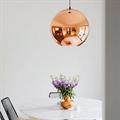 Copper Shade by Tom Dixon D20 светильник подвесной медый в интерьере
