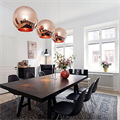 Copper Shade by Tom Dixon D30 светильник подвесной над столом