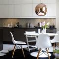 светильник подвесной медного цвета Copper Shade  Tom Dixon D35 для кухни с тиле хайтек