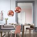 светильник подвесной медный Copper Shade Tom Dixon D40 в стильном интерьере