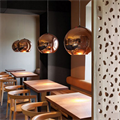Copper Shade by Tom Dixon D45 светильник подвесной для кафе