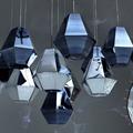 Светильник подвесной в форме шестигранника Cut Tall Pendant хром Том Дискон