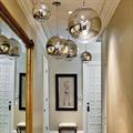 Светильник для холла круглый хром Mirror Ball Том Диксон D50