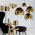 Светильник Mirror Ball золотой шар D15 в интерьере