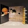 Светильник Mirror Ball золото Том Диксон D50 в интерьере