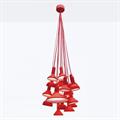 Люстра Establisher & Sons Torch Bunch 20 красный цвет