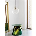 Светильник стеклянный шар золотой подвес D50