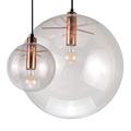 Светильник прозрачный шар Селен медное основание Сандра Линднер  D15