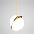 Светильник подвесной рассеченная сфера золото D30