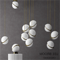 Светильник подвесной рассеченный шар  Ли Брум золото D30