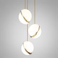 Светильник Crescent 3 плафона золотой