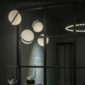 Светильник Crescent Chandelier 5 плафонов хром