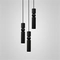 Светильник Fulcrum Light 3 узких плафона черный Ли Брум
