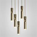 Светильник Fulcrum Light 5 плафонов золото Ли Брум