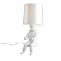 Лампа настольная Clown 1 белый сидящий человек