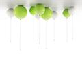 Светильник в виде воздушного шара зеленый D30