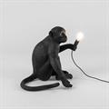 Настольная лампа сидящая Обезьяна с лампочкой черная