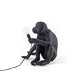 Настольная лампа макака черная