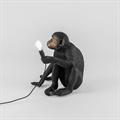 Настольная лампа макака с лампочкой черная