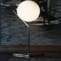 IC Lighting Flos 1  настольная лампа хром высокая белый круглый плафон