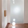 IC  Flos Table 2  настольная лампа белый круглый плафон хромированное основание