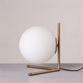 IC Lighting Flos Table 2  настольная лампа белый круглый плафон золотое основание