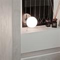 IC Lighting Flos  2  настольная лампа белый шар и золотое основание